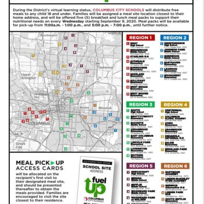 Map of Regional Meal Sites